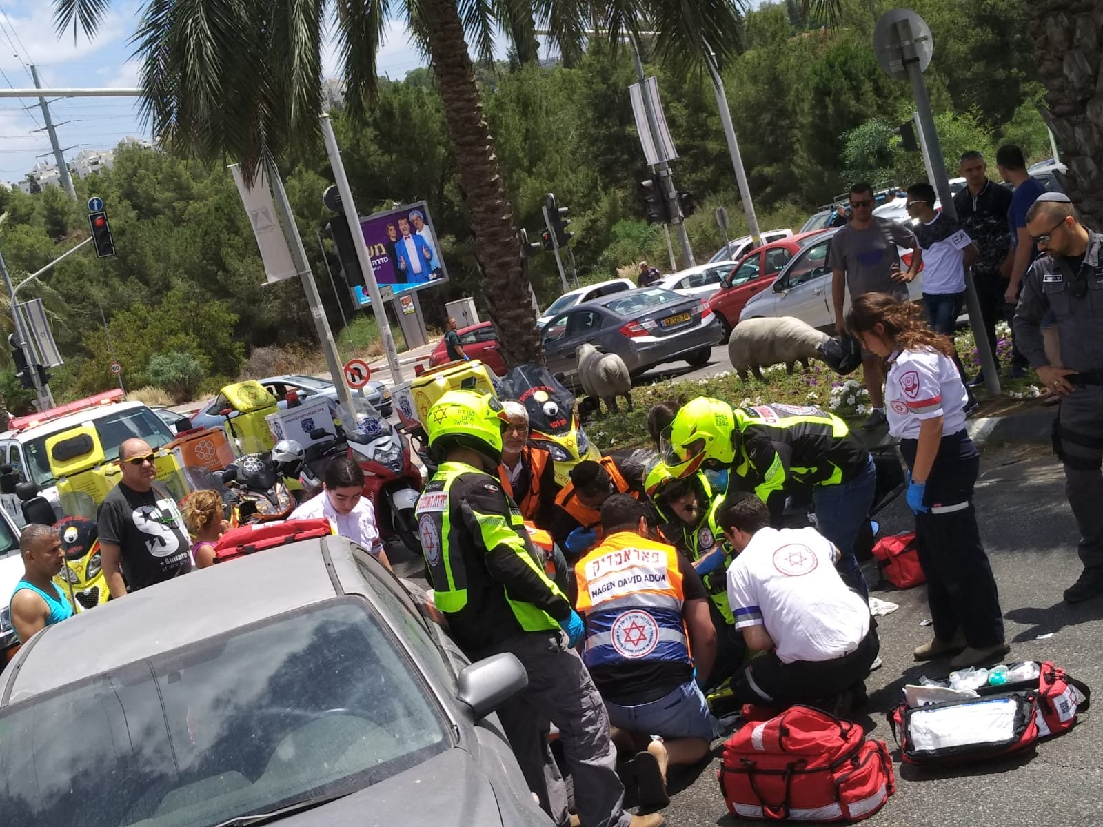 Photo of תאונה קטלנית בקיבוץ גלויות בראש העין. רוכב אופנוע נהרג בהתנגשות עם רכב פרטי