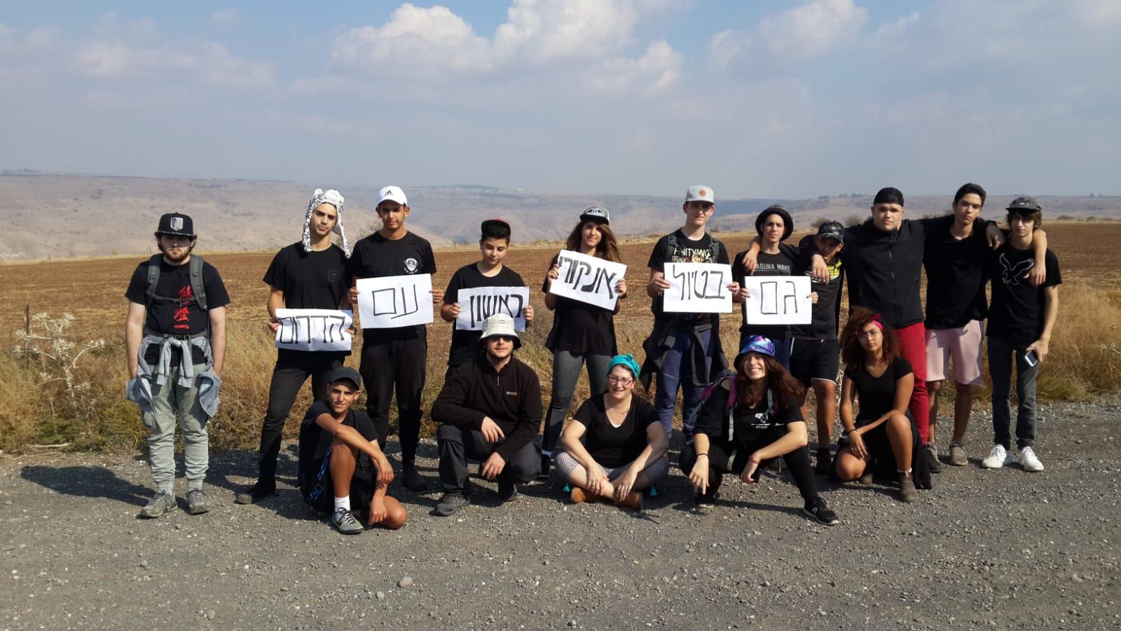 Photo of תלמידי ראשון לציון מצטרפים למחאת חבריהם מעוטף עזה