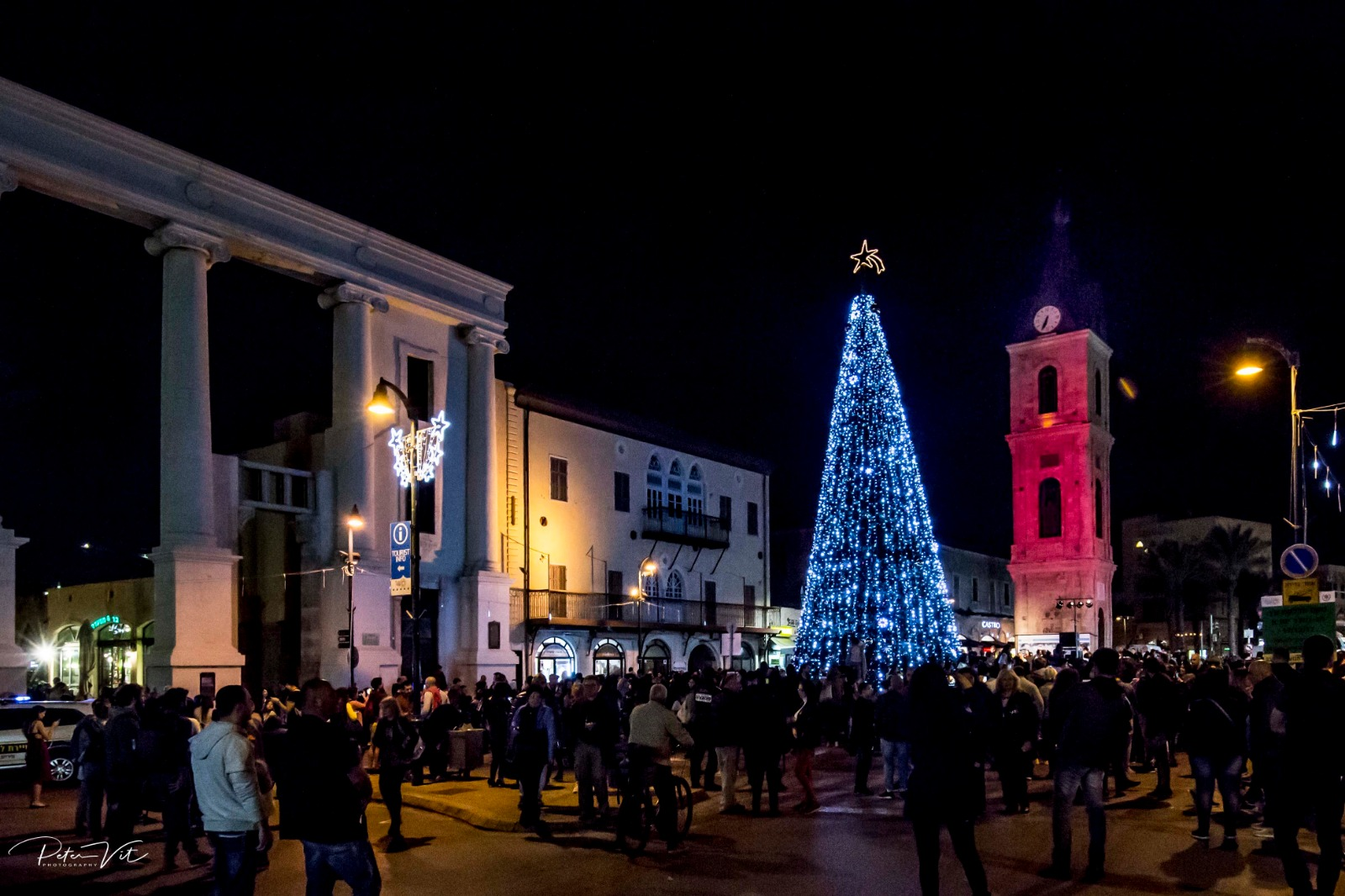 Photo of הדלקת עץ חג המולד בכיכר השעון ביפו 2018