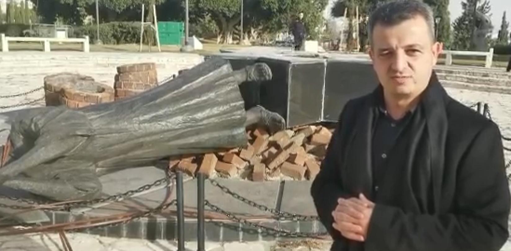 """Photo of הסערה בעקבות הריסת אנדרטת השואה הלילה בר""""ג. כרמל שאמה: """"מי שעשה את זה הוא מטורף וחיה"""""""