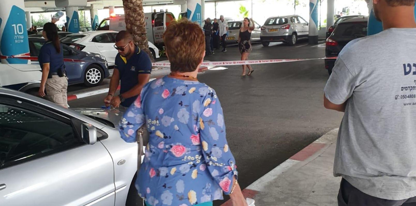 הירי בחניון קניון עזריאלי בלוד. צילום: רשת פייסבוקזירת