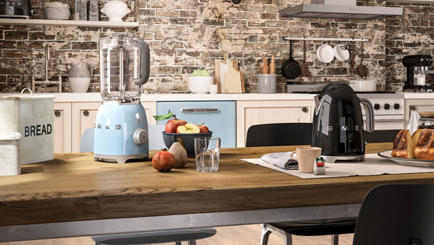 Photo of מקרר רטרו מוזהב עם לוגו מאבני סברובסקי? תנור משולב בעיצוב כפרי? מיקרוגל בעיצוב רטרו?  כל מכשירי החשמל למטבח של סמג- מותג היוקרה האיטלקי, בעיצובים נדירים ובמחירים שווים