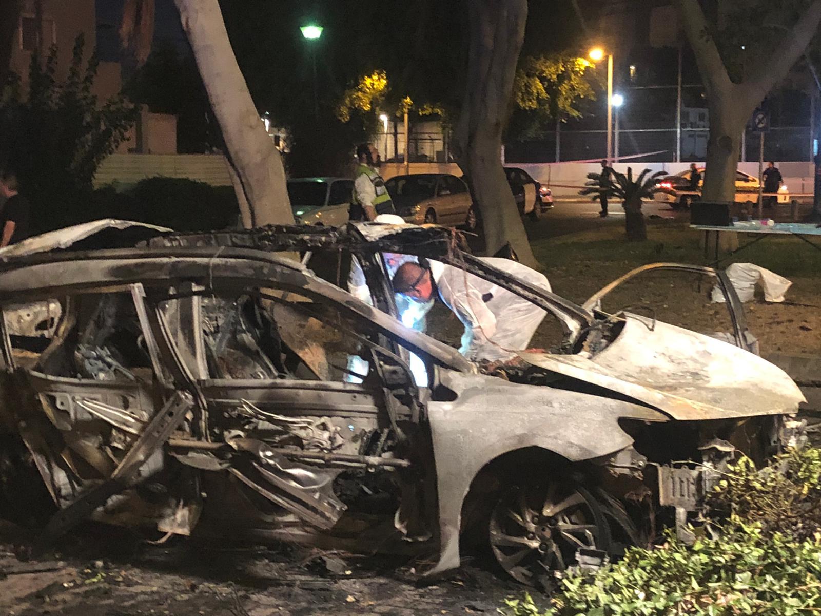 "Photo of הרוג מאשקלון בפיצוץ הרכב הלילה בדרום ת""א. ההערכה: מדובר ב""תאונת עבודה"" ברכבו של ההרוג בעל עבר פלילי"