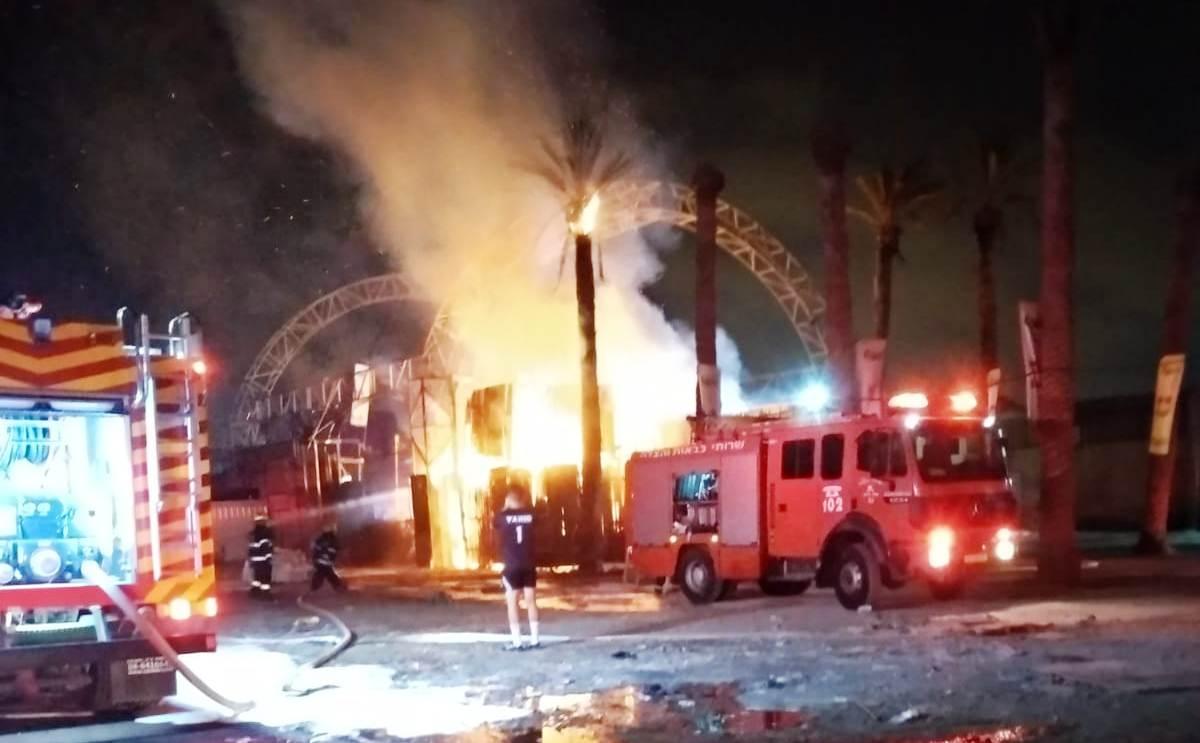 Photo of צפו: מועדון הלילה 'מאיו' במפרץ חיפה נשרף כליל