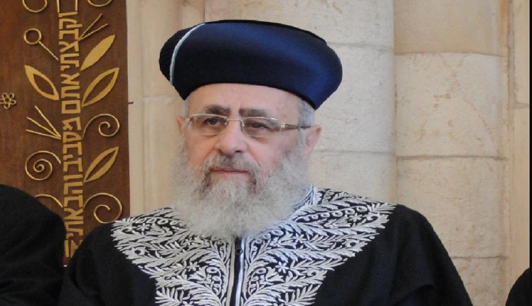הרב הראשון לציון, הרב יצחק יוסף. נדרש במפגיע להתערב ולהדיח את הרב וולפא. צילום: שי בארי