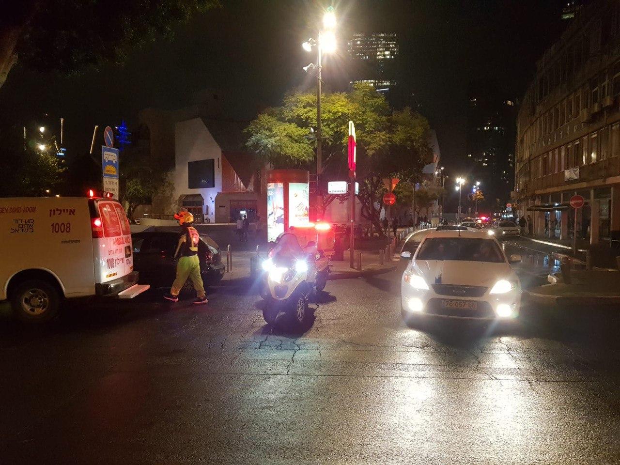 קטטה בתל אביב. צילום מדא