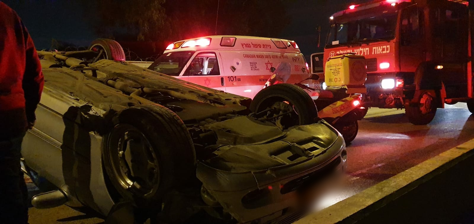 Photo of תאונה קשה בכביש 444: גבר כבן 50 פונה במצב בינוני