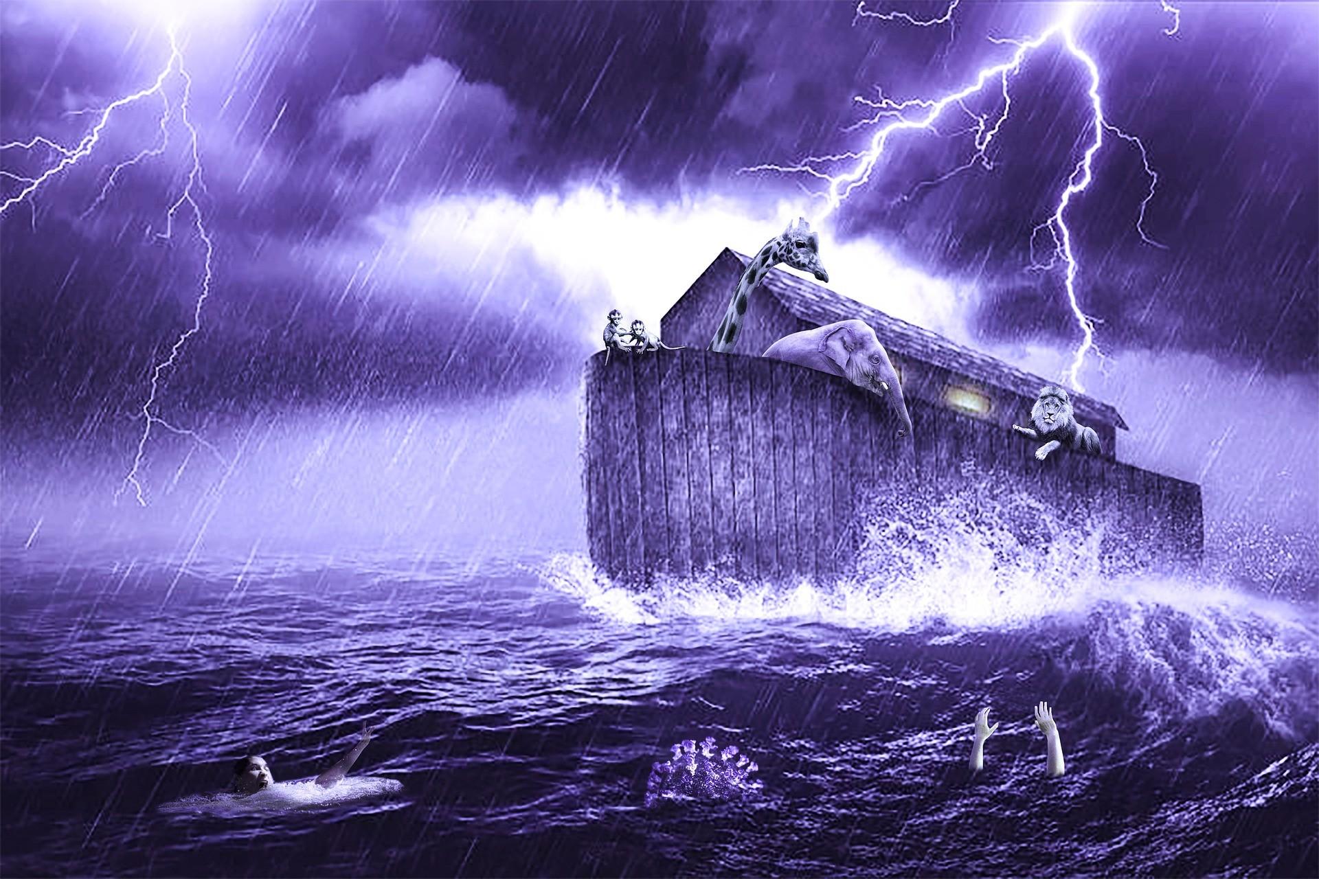 תיבת נוח בסערה. צילום פיקסביי. PIXABAY