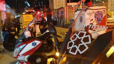 Photo of פועל נפצע בינוני בתאונת עבודה במתחם הרכבת הקלה ברחוב ז'בוטינסקי ברמת גן