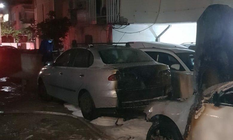 Photo of שלושה כלי רכב נשרפו ברחוב מסריק בבת-ים. חשד כבד להצתת כלי הרכב