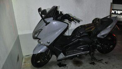 """Photo of צעיר מר""""ג נתפס לאחר שהצית קטנוע בחניון בבניין מגורים ברחוב מבצע חירם בראשל""""צ"""