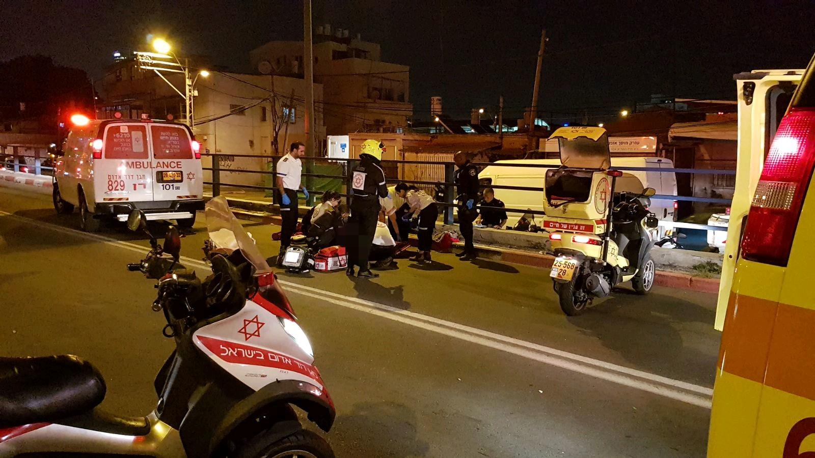 Photo of גבר כבן 40 נפגע באורח אנוש מפגיעת אוטובוס בדרל חיל השריו בתל אביב