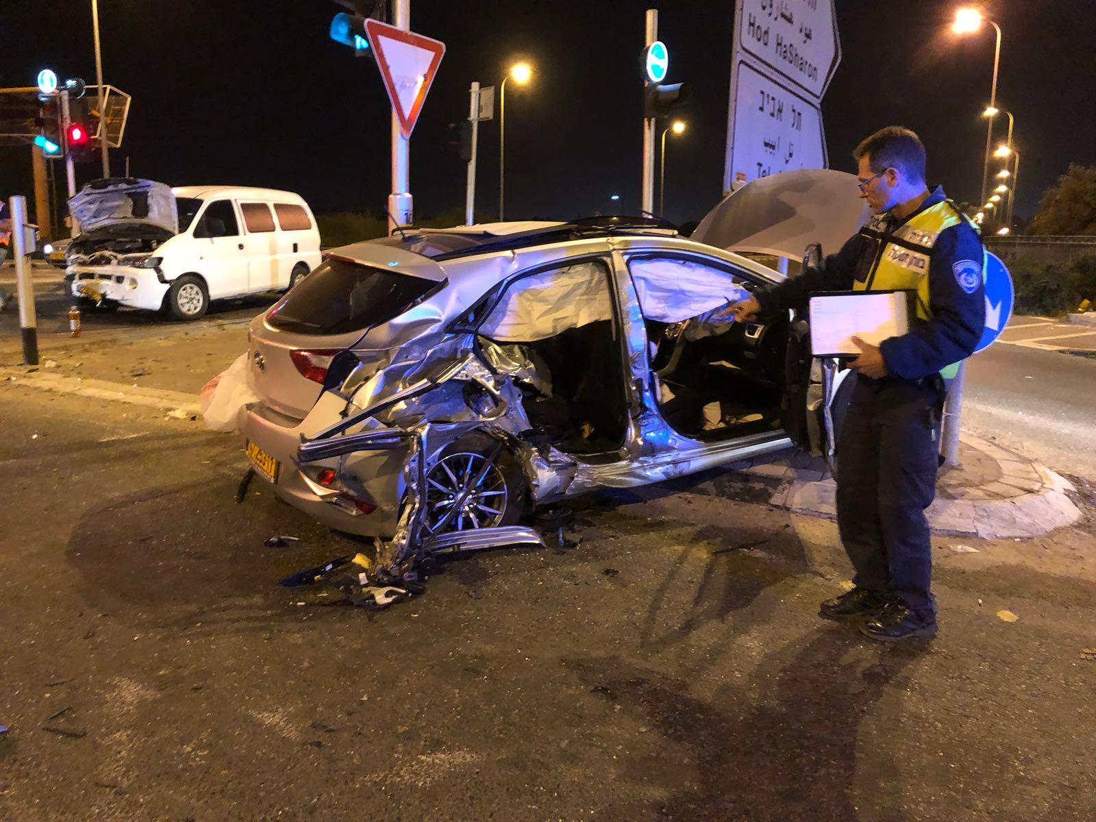 Photo of תאונה קטלנית שנייה הלילה בכביש 55 לידכפר סבא. צעירה בת 23 מכפר סבא
