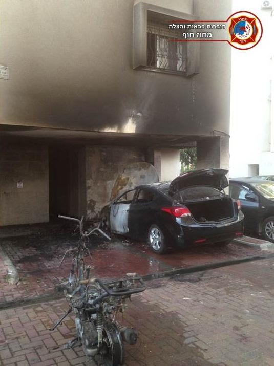 Photo of הותר לפרסום: הבניין שנשרף כמעט כולו- בגלל הצתת קטנוע