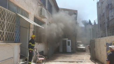 "Photo of צוותי כיבוי הוזעקו לכיבוי שריפה בחדר המחשבים בביה""ס ""באר מרים"" בחדרה. האשם: המזגן"