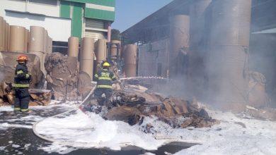 "Photo of בשעה זו: שריפה גדולה ב""מפעלי נייר"" חדרה. כוחות גדולים מוזרמים למקום"