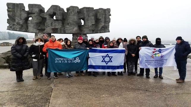 """המסע של אגודת הסטודנטיות והסטודנטים של האוניברסיטה הפתוחה לפולין. צילום או""""פ"""