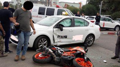 תאונת אופנוע. קרדיט דוברות הצלה אלעד