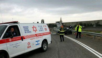 Photo of דיווח ראשוני: גבר כבן 40 נהרג בפיצוץ רכב שנסע בכביש 57 סמוך לניצני עוז בשרון. במקום עוד שני ילדים פצועים