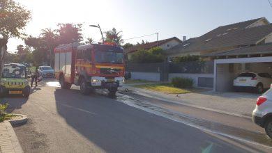 Photo of שריפה פרצה במרתף בית ברמת השרון, בני הבית הצליחו לברוח בזמן