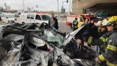 Photo of נהגת רכב נפצעה בתאונה עם משאית במחלף מורשה. מצבה בינוני