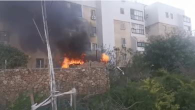 Photo of שריפה פרצה במחסן חיצוני של בניין בהרצליה, אין נפגעים במקום