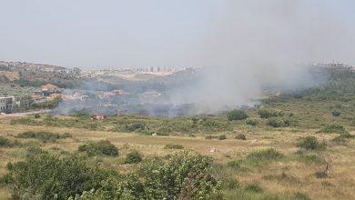 Photo of החום הכבד היום הביא עמו שריפות במוקדים שונים באזור חדרה. לוחמי האש במקום