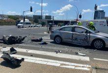 Photo of רוכב אופנוע כבן 30 נפצע קשה בתאונה עם רכב פרטי בכביש 4