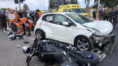 Photo of תאונה עם מעורבות שני אופנועים ורכב פרטי בכביש 57 סמוך לכפר יונה. הכביש חסום