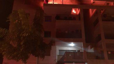 Photo of הלילה: שריפה בקומה רביעית בבניין ברחוב תמר בחריש. הדיירים התפנו בזמן