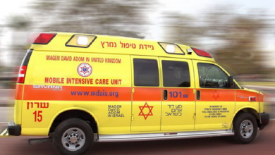 Photo of תאונת חריגה בחיפה: רכב איבד שליטה ברחוב יהושפט ועלה על שני אנשים שישבו על ספסל. מצבו של אחד מהם קשה