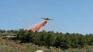 Photo of שריפת חורש ענקית באזור התעשייה בקריית ביאליק. כוחות כיבוי גדולים ומטוסי כיבוי הוזנקו למקום