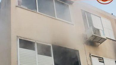 הדירה בה התחוללה השריפה. צילום: דוברות כיבוי חוף