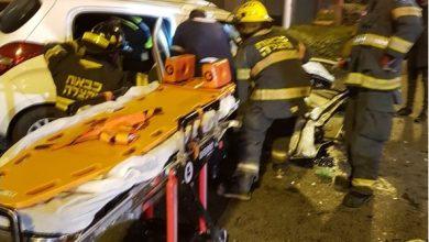 Photo of תאונה קשה הלילה בצומת חורב בחיפה עם לכודים ופצועים קשה