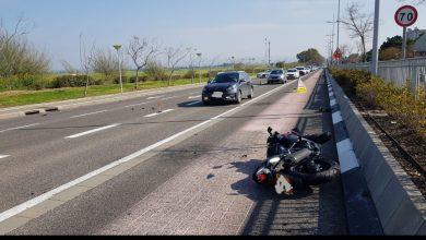 התאונה הלא שגרתית בקריית אתא. צילום: דוברות המשטרה