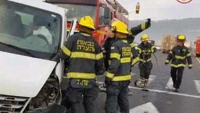 Photo of תאונת דרכים קשה בצומת חסידים. לוחמי האש חילצו נהג שנלכד ברכב