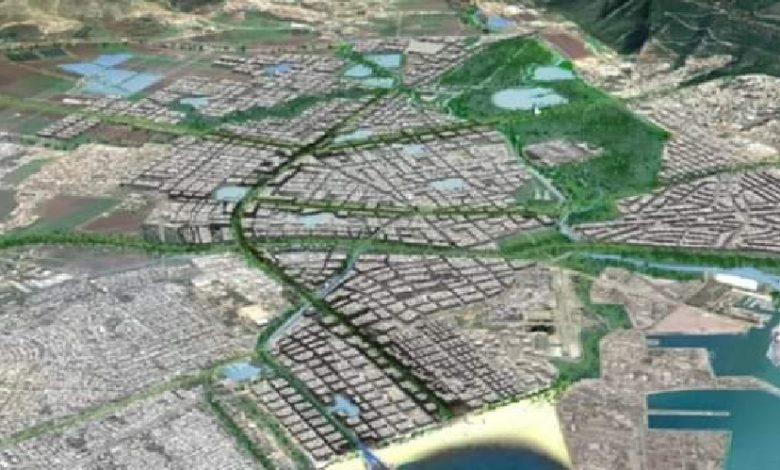 כך יראה מפרץ חיפהעל פי תכנית כחלון ומנהל מקרקעי ישראל. הדמיה