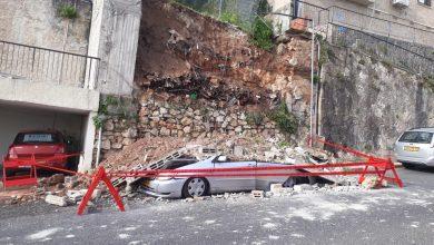 החומה שקברה מתחתיה את הרכב. צילום: איחוד הצלה