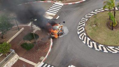 Photo of צפו בתיעוד בלעדי: ניסיון חיסול ברמות יצחק בנשר. ככל הנראה מטען התפוצץ ברכב. כוחות גדולים זורמים למקום