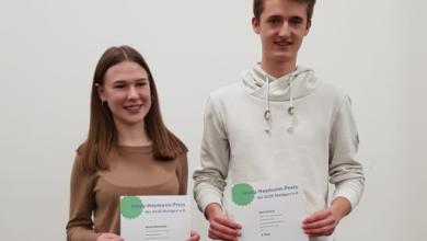 Photo of העבודות של תלמידים גרמנים שהגיעו לחילופי נוער בביאליק כיכבו בתחרות בגרמניה