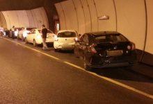 המנהרות נסגרו לתנועה בציר מהגרנד קניון לחוף כרמל צילום: דוברות המשטרה