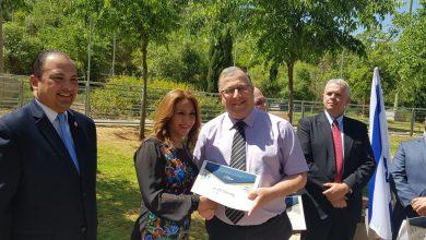 Photo of צפו: ראש עיריית קריית ביאליק נאם באירוע חגיגי לציון יום השנה להעברת שגרירות גואטמלה לירושלים