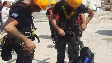 Photo of דרמה בחיפה: לוחמי האש פועלים לחילוץ עובד על עגורן בגובה 60 מ', שאיבד הכרה בזמן עבודה ברחוב יציאת אירופה