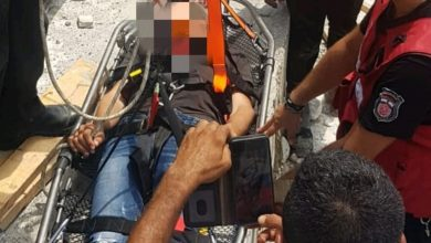 "Photo of כוחות כיבוי ומד""א חברו למנופאי שאיבד הכרה על עגורן בגובה 56 מ' באתר בחיפה"
