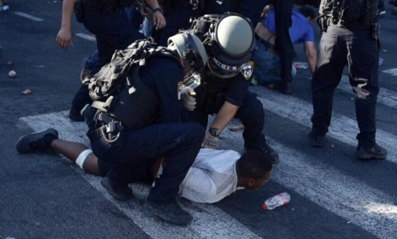 16 עצורים בעימותים של המפגינים מול כוחות המשטרה. צילום: דוברות המשטרה