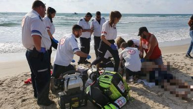 Photo of גבר ואישה בני 30 טבעו  למוות בחוף הבתולה בקריית ים. נקבע מותם לאחר ניסיונות החייאה