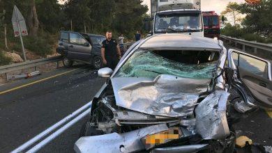 Photo of תאונה קשה בין שני רכבים הבוקר ליד אוניברסיטת חיפה. חילוץ שני לכודים, האחד במצב קשה