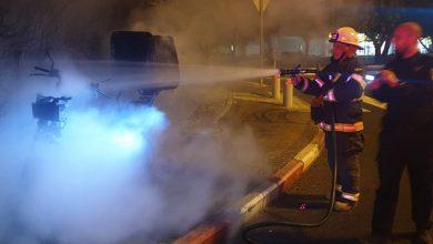 Photo of נמנעה הלילה שריפת חורשה סמוך לגרנד קניון בחיפה, עקב הצתת קטנוע במקום
