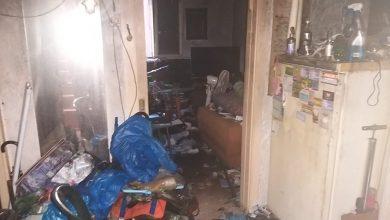 Photo of שריפה גדולה בדירה ברחוב אחד העם בהדר חיפה. הסיבה: קצר חשמלי