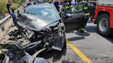 תאונה בכביש 75. צילום כבאות צפון